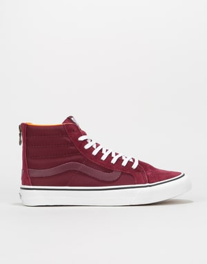Vans Sk8-Hi Slim Zip Skate Shoes - (Boom Boom) Port Royale/True White