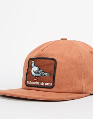 Anti Hero Pigeon Patch Snapback Cap - Brown