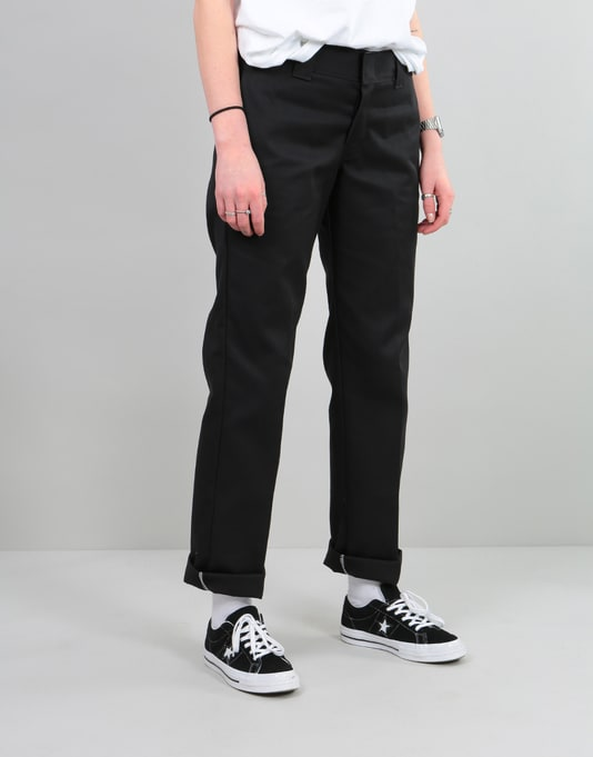 Dickies Womens 873 Slim Work Pant - Black