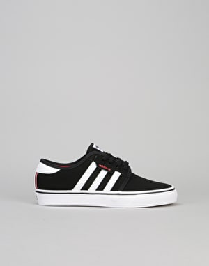 Adidas Seeley Boys Skate Shoes - Core Black/Ftwr White/Scarlet