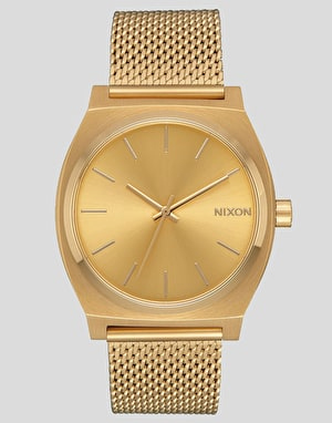 Nixon Time Teller Milanese Watch - All Gold