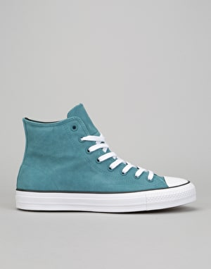 Converse CTAS Pro Hi Skate Shoes - Teal/Black/White