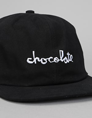 Chocolate Chunk Unstructured 6 Panel Cap - Black