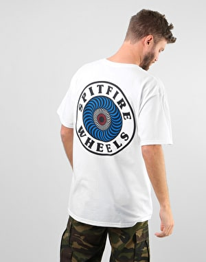 Spitfire OG Circle T-Shirt - White/Multi-Colour