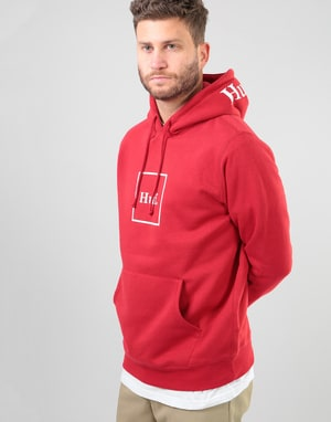 HUF Outline Box Logo Pullover Hood - Red