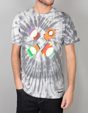 HUF x South Park Trippy Tie Dye T-Shirt - Black