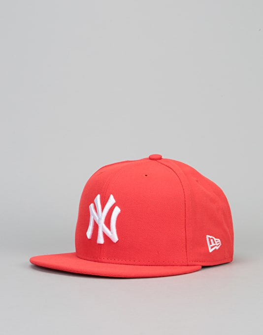 New Era 9Fifty New York Yankees League Snapback Cap - Heather Red ... c9e965dd26f