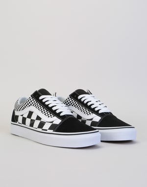 Vans Old Skool Skate Shoes - (Mix Checker) Black/True White