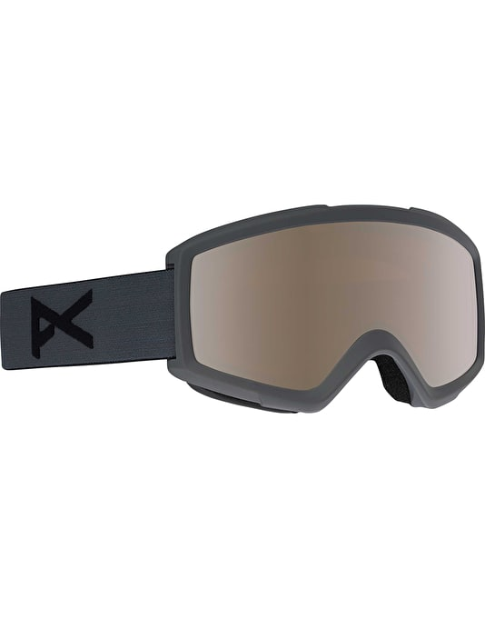Anon Helix 2.0 2018 Snowboard Goggles - Stealth/Silver Amber
