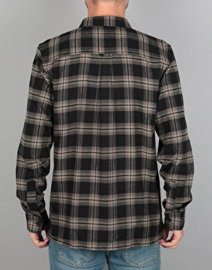 Bellfield Shinra L/S Shirt - Black/Dark Grey
