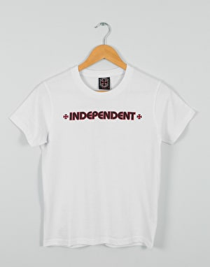 Independent Bar Cross Boys T-Shirt - White