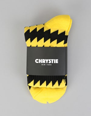 Chrystie x CSC Socks - Black/Yellow