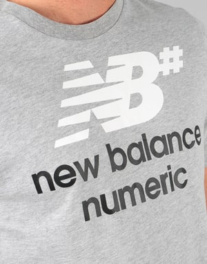 New Balance Numeric Logo Stacked T-Shirt - Athletic Grey