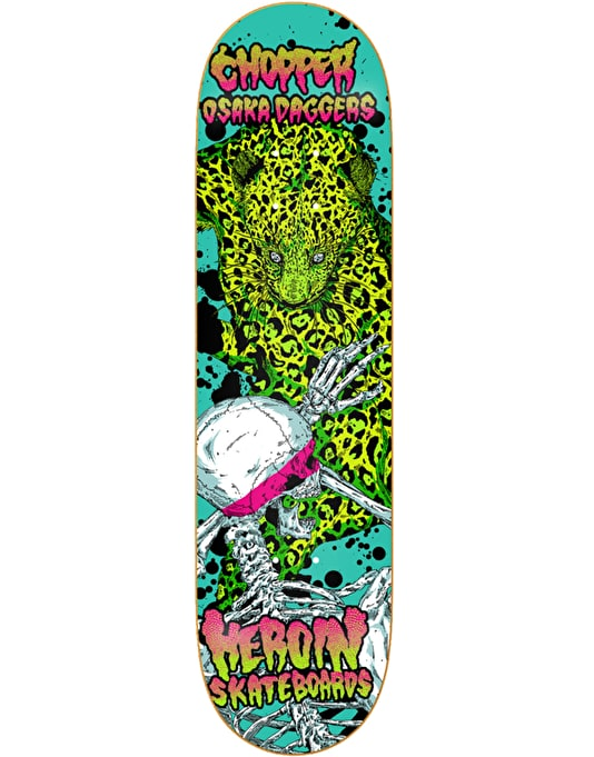 Heroin Chopper Hirotton Vicious Nature Pro Deck - 8""