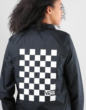 Vans Womens Thanks Check Box Coach Jacket - Black