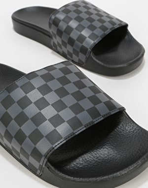 Vans Slide-Ons - (Checkerboard) Black/Asphalt