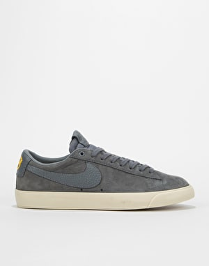 Nike SB GT Blazer Low QS Skate Shoes - Dark Grey/Dark Grey-Gold