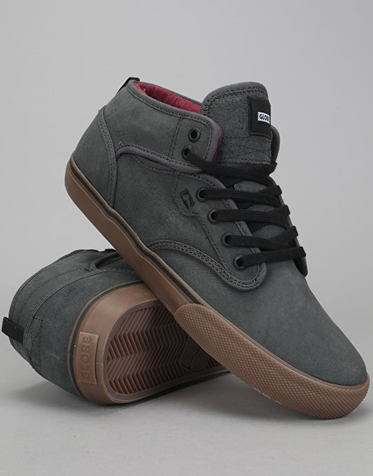 Globe Motley Mid Skate Shoes - Dark Shadow/Tobacco