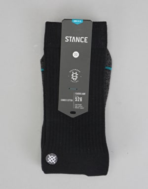 Stance Transition Classic Crew Socks - Black
