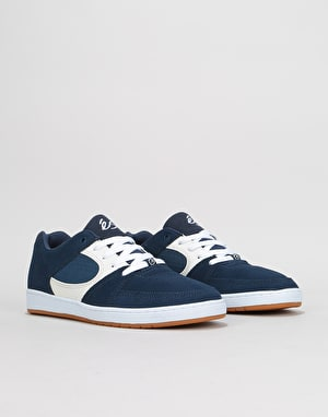 éS Accel Slim Skate Shoes - Blue/White