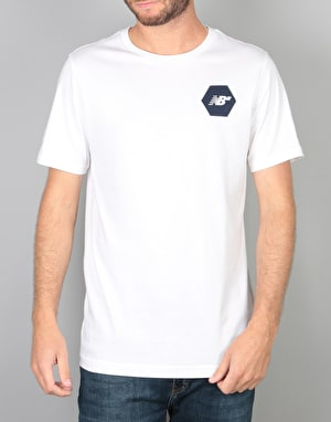 New Balance Numeric Hex T-Shirt - White/Navy