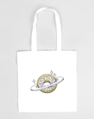 Skateboard Café Planet Donut Tote Bag - Natural