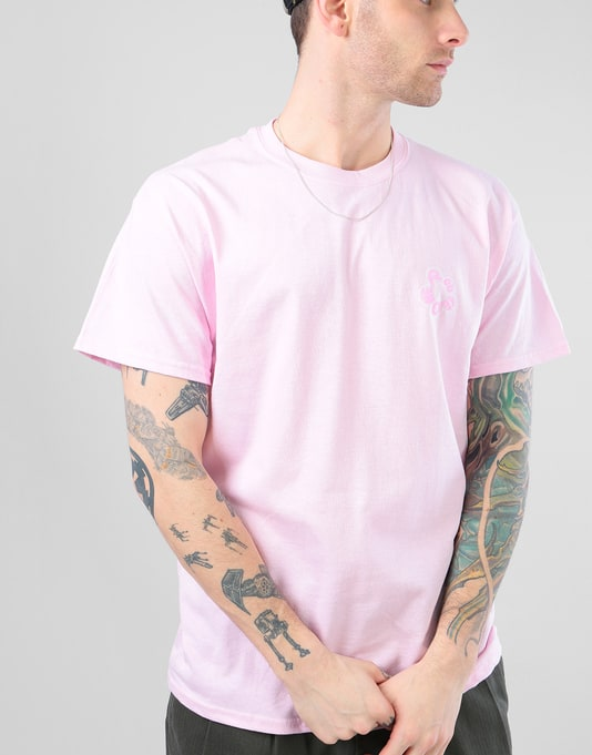 Route One In Bloom T-Shirt - Light Pink