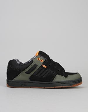 DVS Enduro 125 Skate Shoes - Black/Olive Nubuck (Deegan)