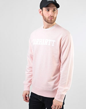 Carhartt College Sweatshirt - Sandy Rose Heather/White