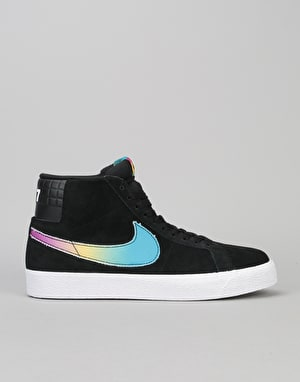 Nike SB Zoom Blazer Mid Lance QS Skate Shoes - Black/Multi-Colour