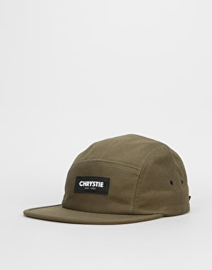 Chrystie OG Logo 5 Panel Cap - Military Green
