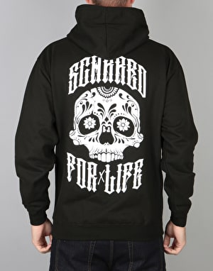 Scarred For Life Day Of The Dead Pullover Hoodie - Black
