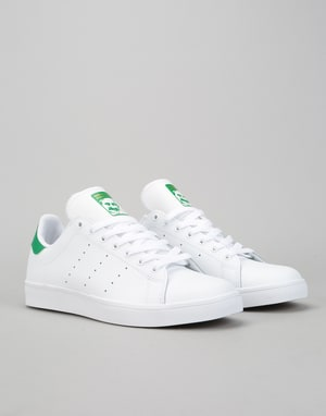 Adidas Stan Smith Vulc Skate Shoes - White/White/Green