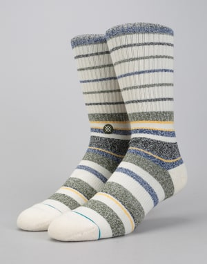 Stance Castro Butter Blend Classic Crew Socks - Natural