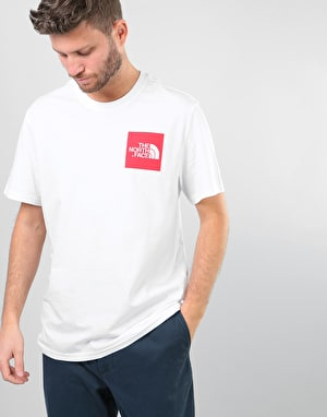The North Face S/S Fine T-Shirt - TNF White/TNF Red