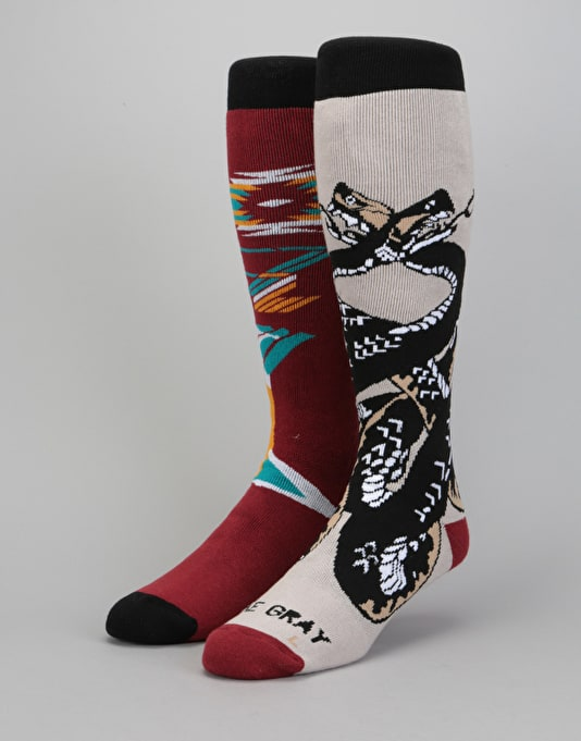 Stinky Schaible/Gray Blind Collab HW 2018 Snowboard Socks - Apachy...