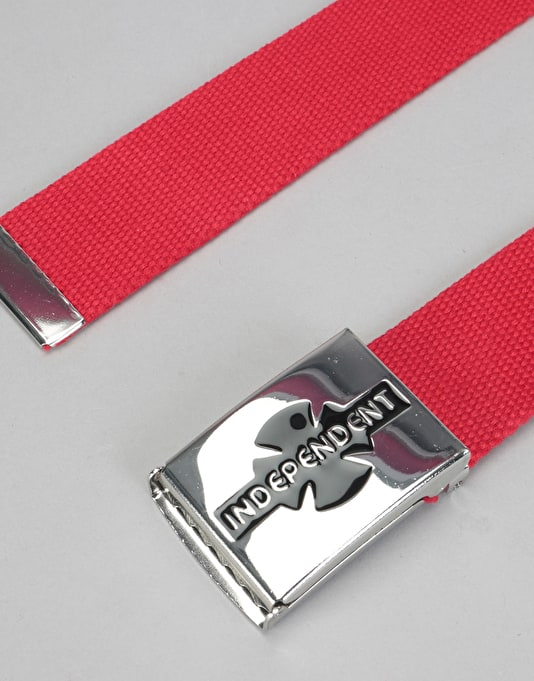 Independent Clipped Belt - Cardinal Red
