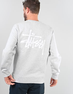 Stüssy Basic Stüssy Crew - Grey Heather