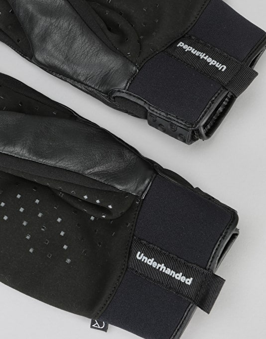 Underhanded Boomer Leather Gloves - Black