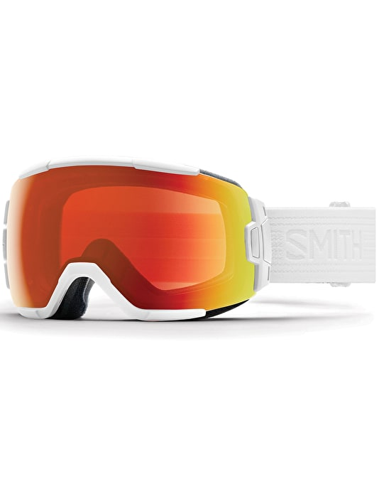 Smith Vice 2018 Snowboard Goggles - Whiteout/Everyday Red Mirror