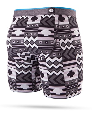 Stance Block Puzzle Combed Cotton Boxer Shorts - Black
