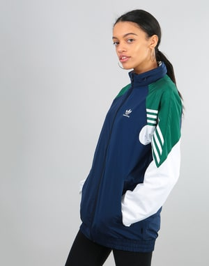 Adidas Womens Full Zip Oversized Track Top - Night Indigo