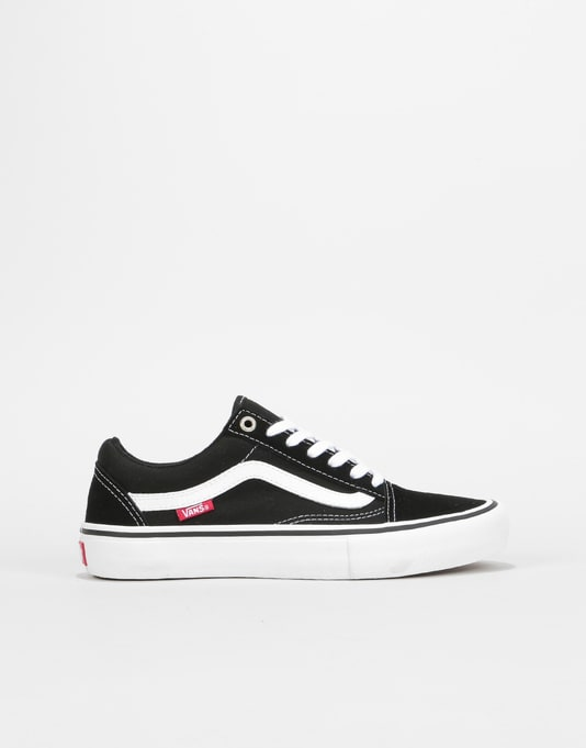 Vans Old Skool Pro Womens Trainers - Black White  1e8f7ebae