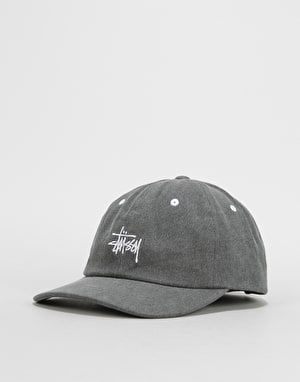 Stüssy Washed Stock Low Pro Cap - Black