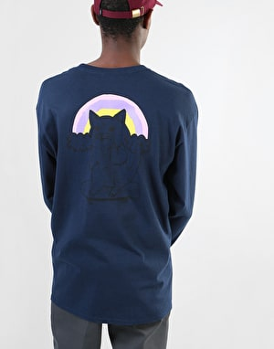 Original Cat Finger LS T-Shirt - Navy