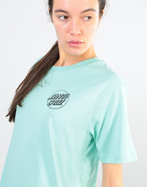 Santa Cruz Screaming Hand Outline Womens T-Shirt - Jade