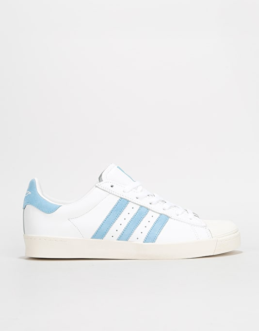 Adidas x Krooked Superstar Vulc Skate Shoes - White Custom Chalk White  2590a6b505bf