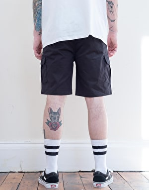 Route One Slim Cargo Shorts - Black