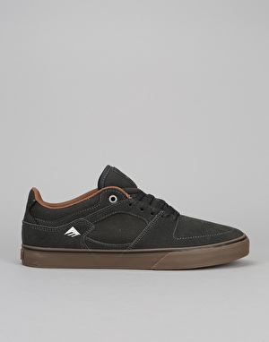 Emerica The Hsu Low Vulc Skate Shoes - Dark Grey