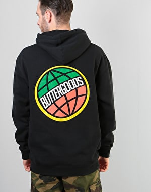 Butter Goods 3D Worldwide Pullover Hoodie - Black